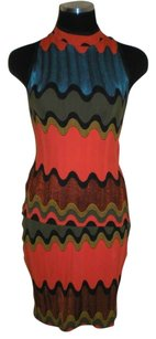 Etincelle Couture ETINCELLE COUTURE Skirt Set Paris Sleeveless Teal Orange Multi Print---XS---T1