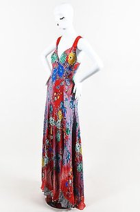 Multi-Color Maxi Dress by Etro Red Multicolor Silk