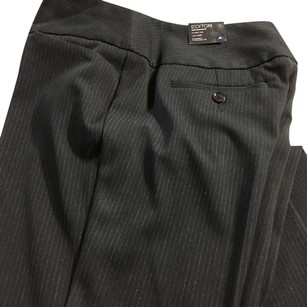 Express Boot Cut Pants Black Pinstripe