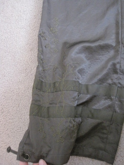 Express Straight Pants olive green