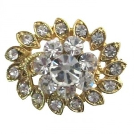 Gold Exquisite Exclusive Flower Dazzling Cubic Zircon Brooch/Pin