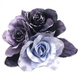 Black Grey Fabric Flowers Bridesmaids Dresses Hair Flower Brooch/Pin