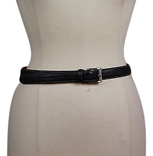 Faonnable Facconable Womens Black Belt 75 Leather Casual Buckle