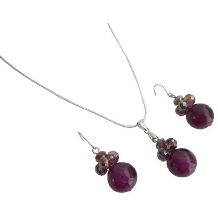 Bridesmaid Cool Jewelry In Purple Color
