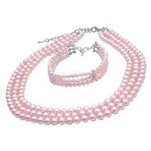 Gift Ideas Personalized Occasion Gift Pink Necklace & Bracelet Jewelry
