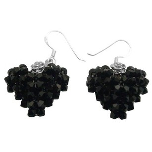 Jet Crystals Adorable Sparkling Accentuate Any Outfit Stunning Earring
