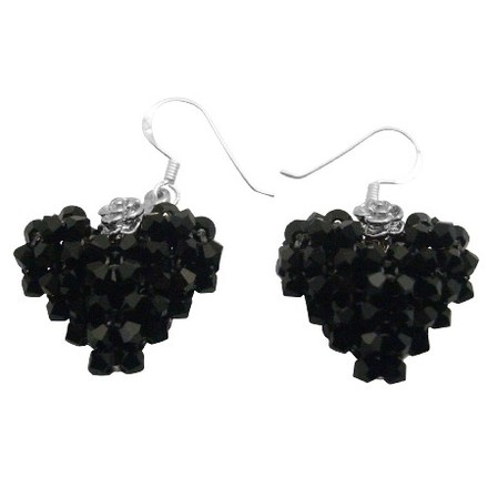 Black Jet Crystals Adorable Sparkling Accentuate Any Outfit Stunning Earrings