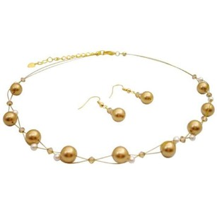 Orange That Make Your Gold Pearls Ivory Colorado Crystals Jewelry Sets