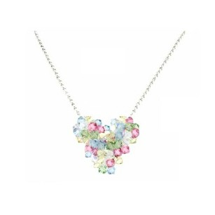 Multi Color Your Style Crystal Heart Pendant Necklace