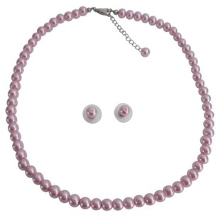 Party Favor Gifts Pageant Gifts Beautiful Pink Pearls Jewelry Set