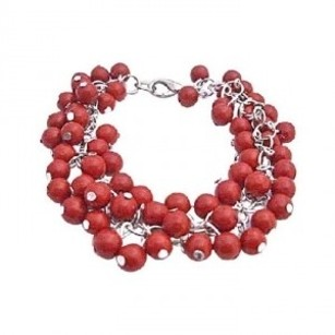 Tiny Coral Beads Bracelet Multi Coral Beads Gorgeous Bracelet