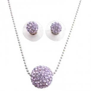 Violet Pave Ball Pendant Original 12mm Pave Ball Jewelry