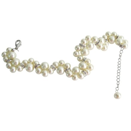 Fashion Jewelry For Everyone Cream Excellent Quality Bracelet Pearls Twisted Bracelet Earrings