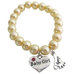Fashion Jewelry For Everyone Lucky Foot Jewelry Baby Girl Bracelet Yellow Pearls Bracelet