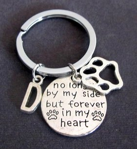 Fashion Jewelry For Everyone No Longer By My Side But Forever In My Heart Dog Memorial Personalized Dog Keychain Dog Paw Pet Remembrance Key Chain