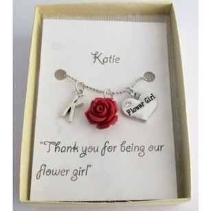 Fashion Jewelry For Everyone Wedding Gifts Personalized Flower Girl Necklace Rose Pendant