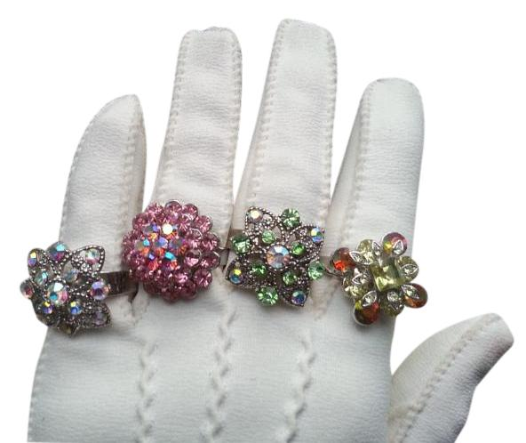 Fashion Rhinestone Cocktail Rings (4)