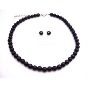 Black Pearls Wholesale Jewelry Under $10 Bridemaids Necklace Set