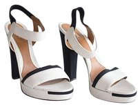 Fendi Black And Cream Leather Slingback Sandals Xlnt Ivory Platforms