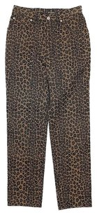 Fendi Animal Print Straight Leg Jeans