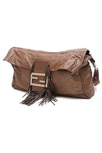 Fendi Brown Leather Baguette