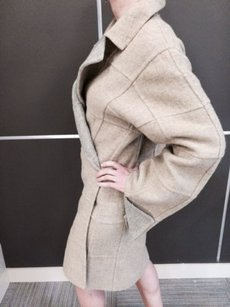 Fendi Reversible Fall Winer Gray Wool In Excellent Condition Coat