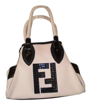 11376dcec7d7 ... new style fendi de jour black canvas canvas leather tote tradesy 256c7  16c77