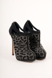 Fendi Black Suede Beaded Boots