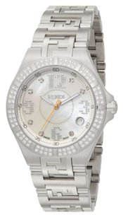 Fendi Fendi High Speed Diamond, Mother-of-Pearl & Stainless Steel Watch