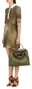 Fendi Italian Leather Satchel in Green