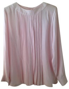 Fendi Italy Silk Top Pink
