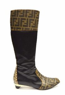 Fendi Coated brown / Black Boots