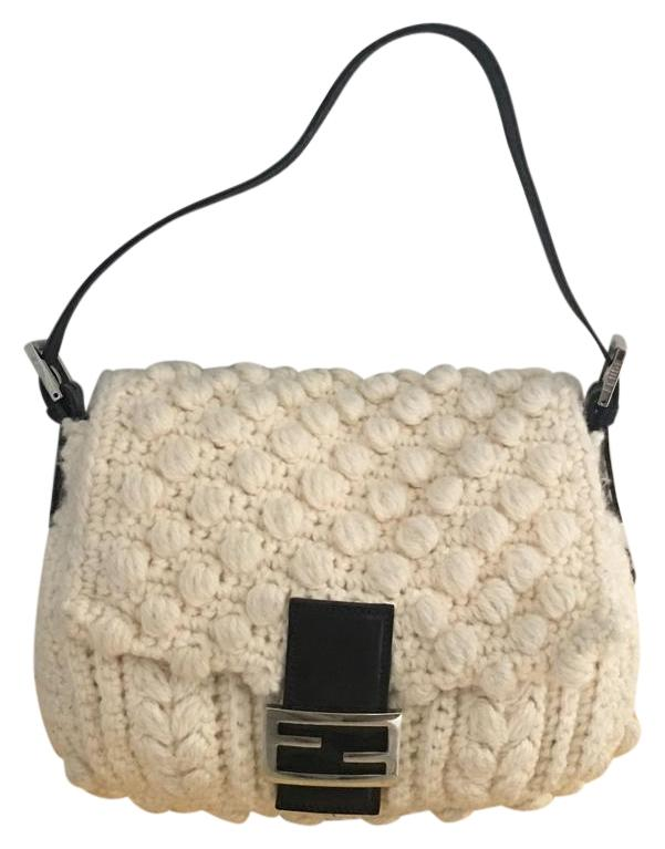 8335dc6835db ... low price fendi mama baguette baguette wool shoulder bag f6749 01bf4