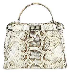 Fendi Peekaboo Animal Print Cross Body Bag
