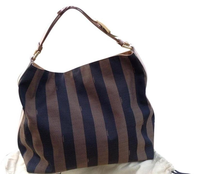 ... clearance fendi hobo stripped shoulder bag be720 47bc3 ... be3cf9faa8