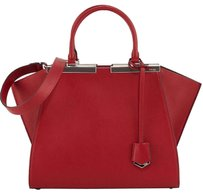 Fendi Satchel in Currant(Dark Red)