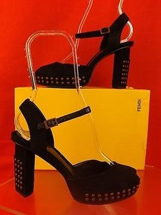 Fendi Slingbacks Black Sandals