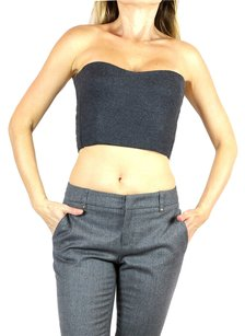 Fendi Strapless Bustier Top gray