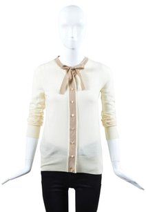 Fendi Cream Taupe Cashmere Top Beige
