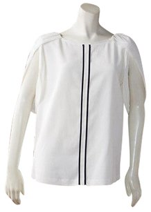 Fendi Wool Blend Short Tulip Sleeve Pullover Hs2443 Top Ivory