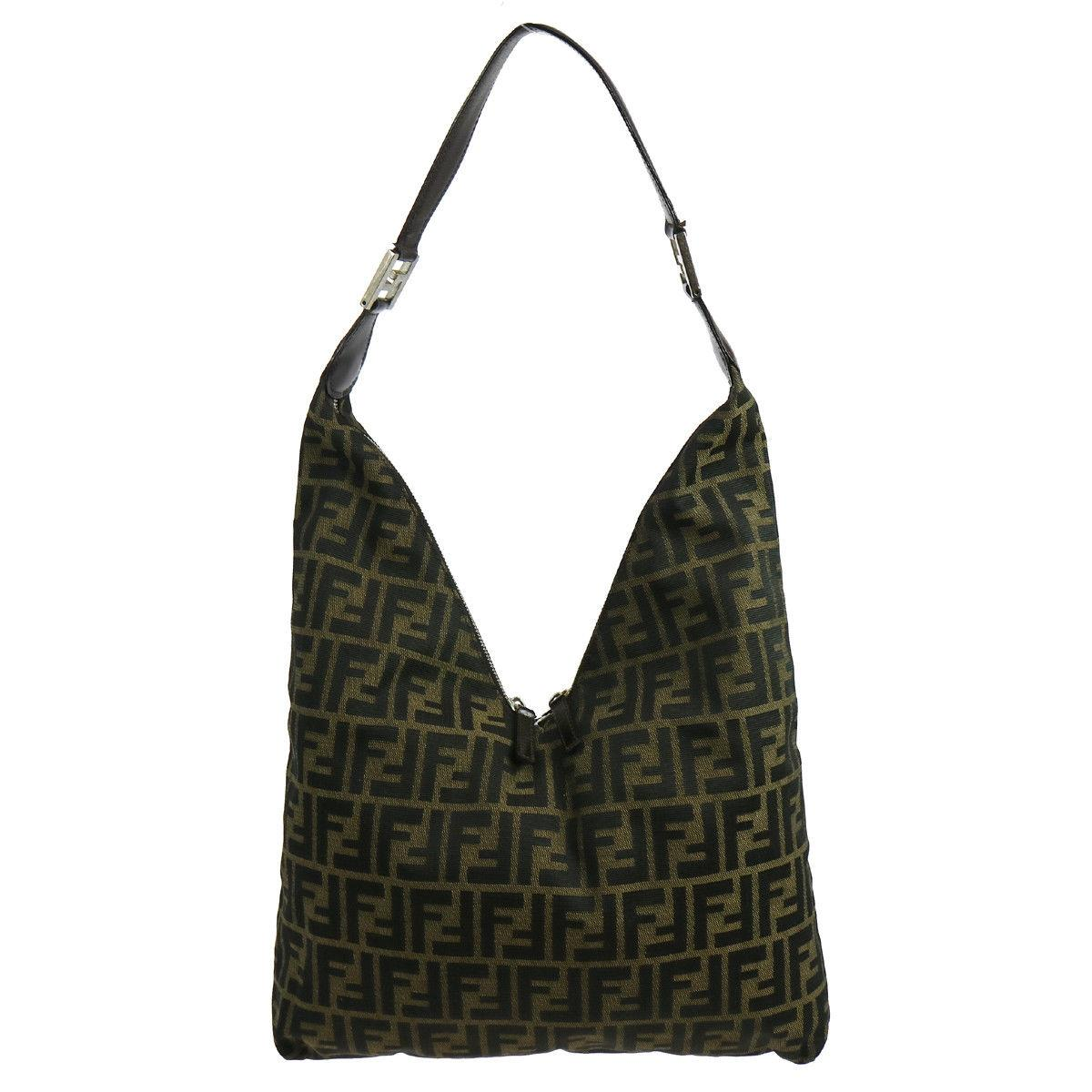 7dfe1ae2d52f promo code for fendi zucca brown canvas hobo bag tradesy c27aa 4b594