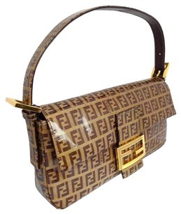 Fendi Zucca Clutch Shoulder Bag