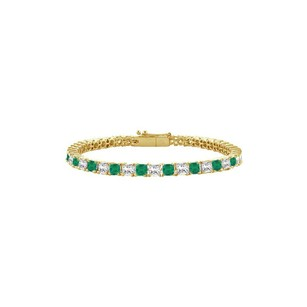 Fine Jewelry Vault Emerald and Diamond Tennis Bracelet with 5.00 CT TGW