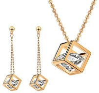 Fine Jewelry Vault Latest Designs Pendant with beautiful Earrings set in Pink Hue