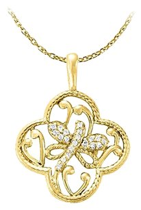 Fine Jewelry Vault Nicely Designed Diamond Pendant in 14K Yellow Gold Economical Price Range Latest Fashion