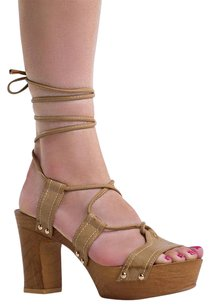 Flink Ankle-strap Block Covetlist Edith3taupe-5 Brown Sandals