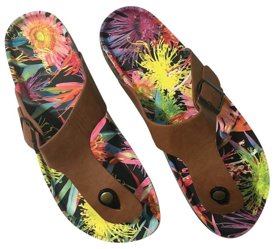 Floral Bottom Thong Sandals Best Fits 9.5-10