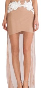 For Love & Lemons Maxi Skirt Nude