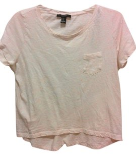Forever 21 Neon Speckled T Shirt cream