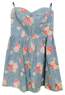 Forever 21 short dress Denim Floral on Tradesy